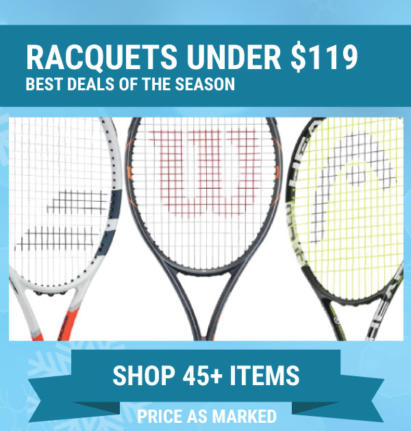 Sale Tennis Racquets Under $119