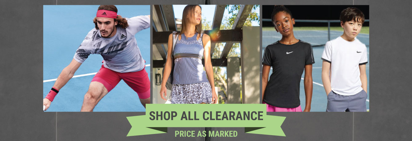 Tennis Clearance - Sale Racquets, Shoes, Apparel, Bags and More