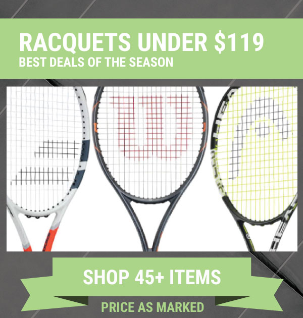 Sale Tennis Racquets Under $119