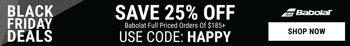 Black Friday Tennis Deals - 25% Off Baboalt cart over $185