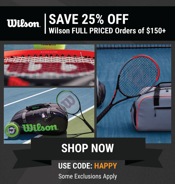 Wilson Black Friday - 25% off full priced carts of $150