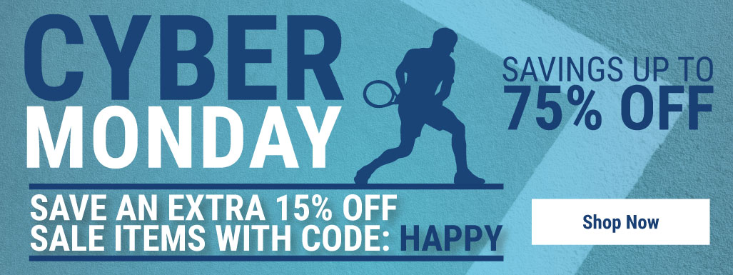 Cyber Monday - Tennis Apparel, Racquets, Bags, Shoes and more