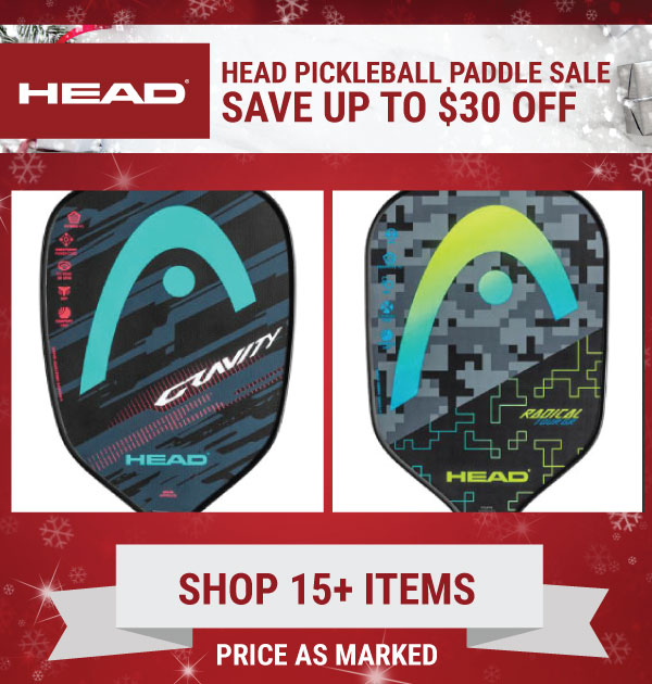 Head Pickleball - 20% off select paddles