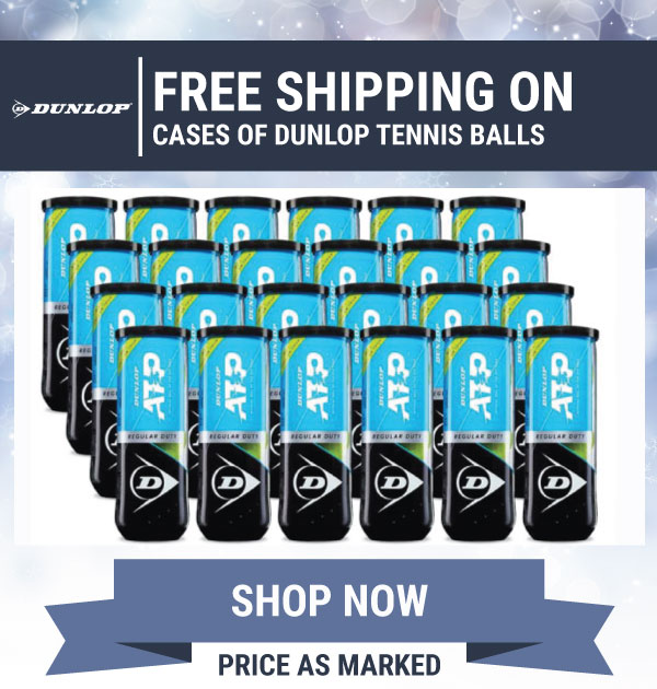Free Shipping on Dunlop Cases of balls