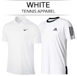Men's All White Tennis Apparel
