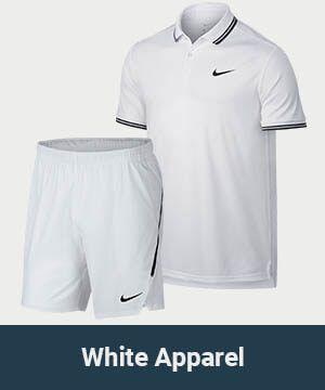 Men's All White Tennis Apparel