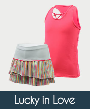 Girls Lucky in Love Tennis Apparel