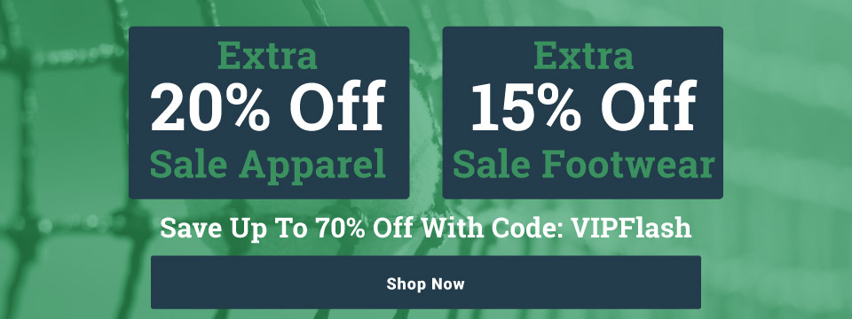 Extra 20% off Sale Tennis Apparel and Extra 15% off Sale Shoes