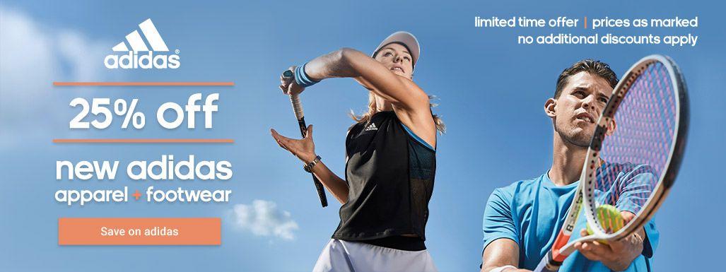Adidas Tennis Apparel and Footwear