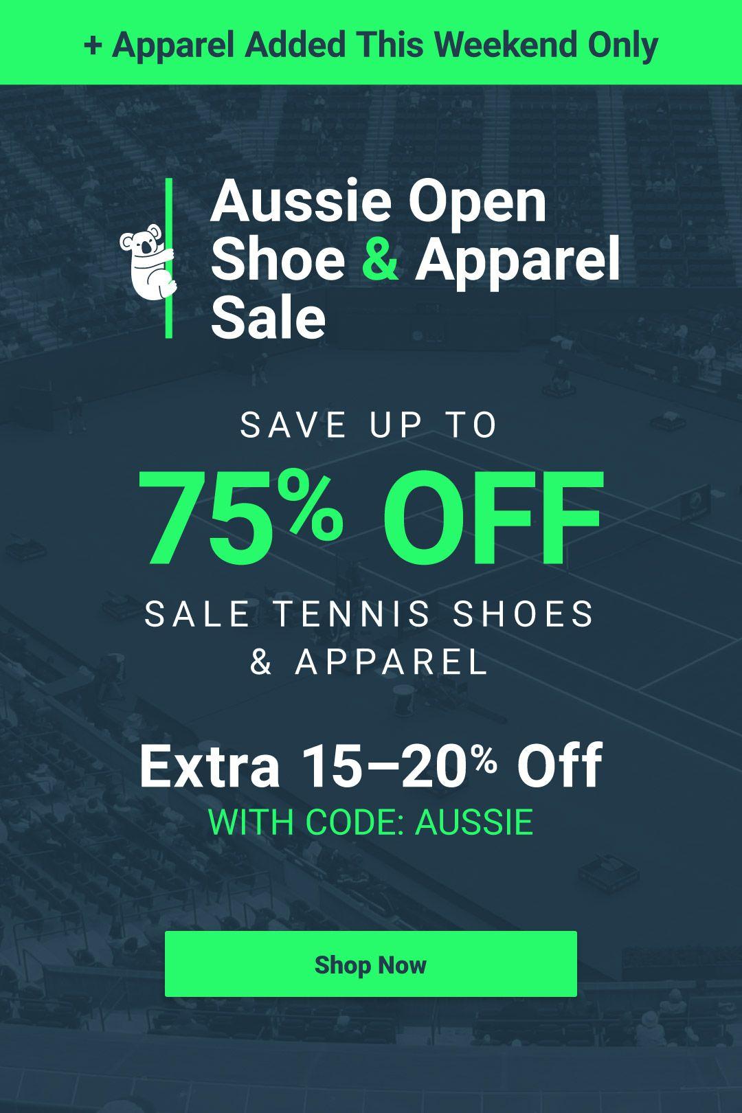 Sale Tennis Shoes & Apparel