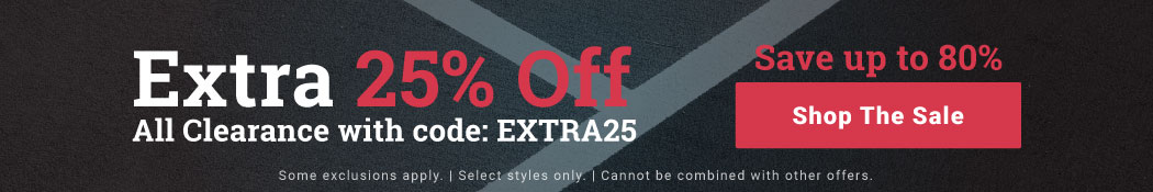 Extra 25% Off All Clearance