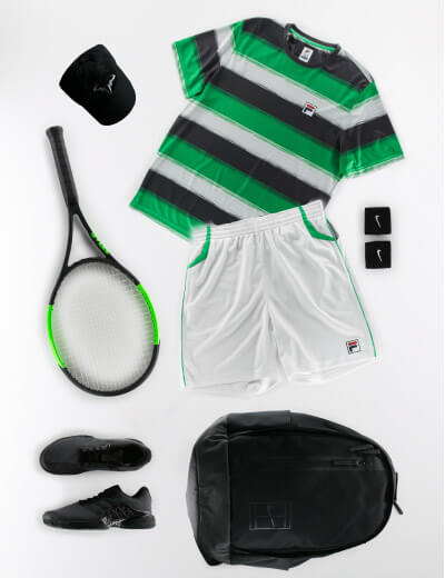 Green Grey and Black Men's Outfit