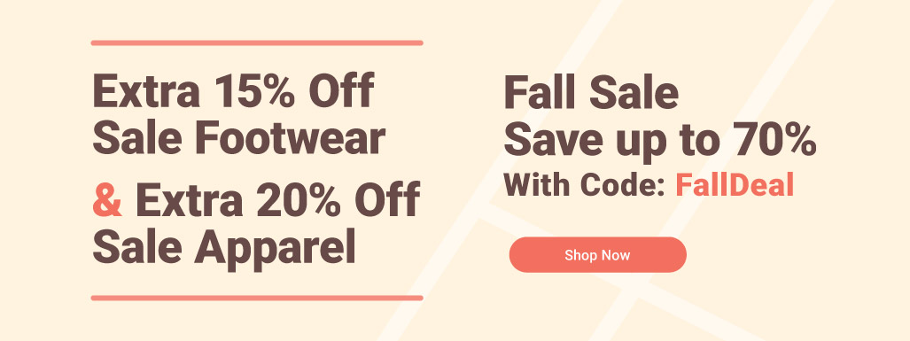 Fall Apparel And Footwear Sale
