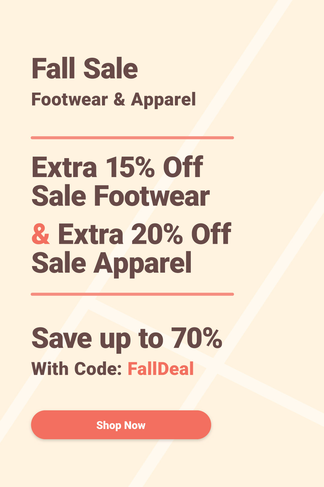 Fall Apparel and Shoe Sale