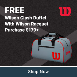 Free Wilson Duffle With Racquet Purchase