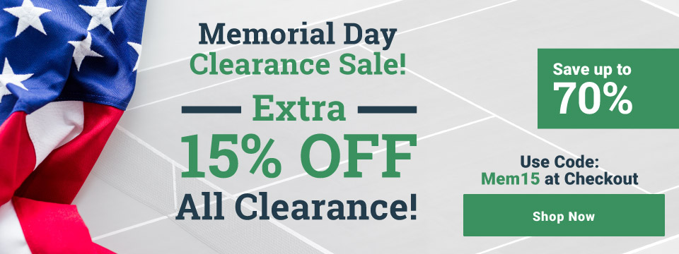 Memorial Day Sale Extra 15% off Clearance