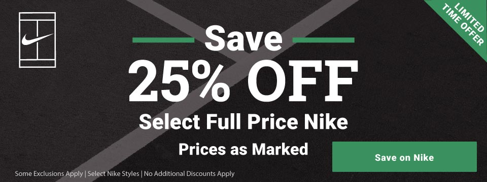 25% Off Select Holiday Nike Footwear and Apparel