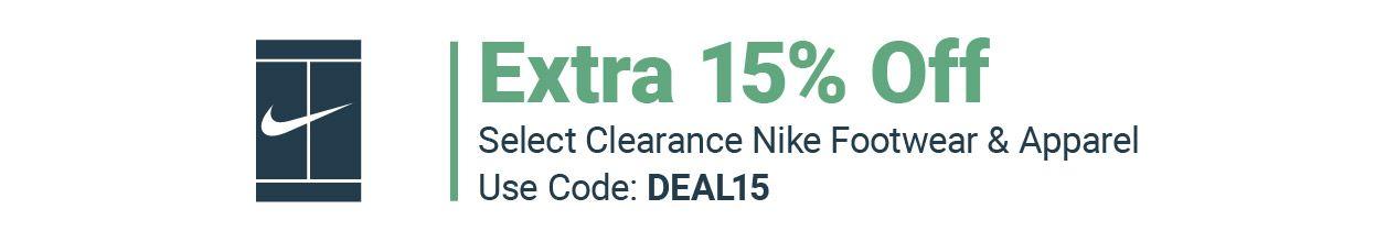 Clearance Nike Tennis Gear