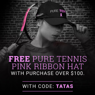 Pink Ribbion Pure Tennis Hat