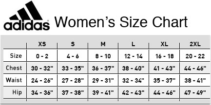 adidas t shirt size chart