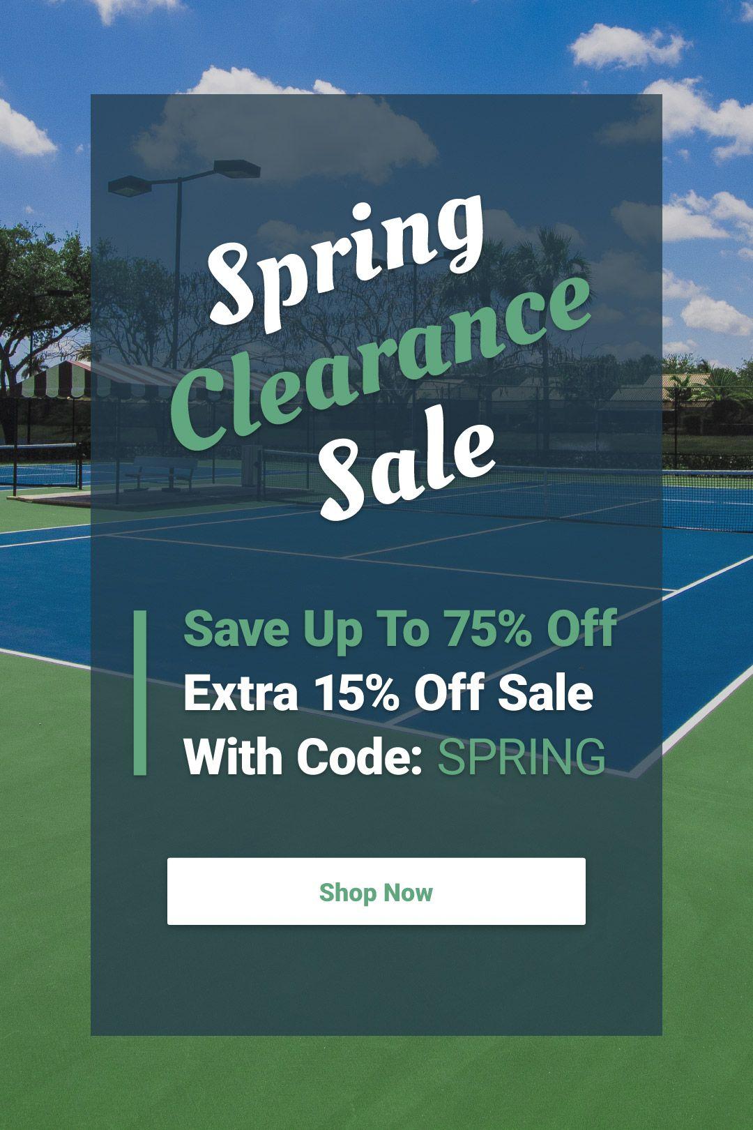 Tennis Clearance Sale