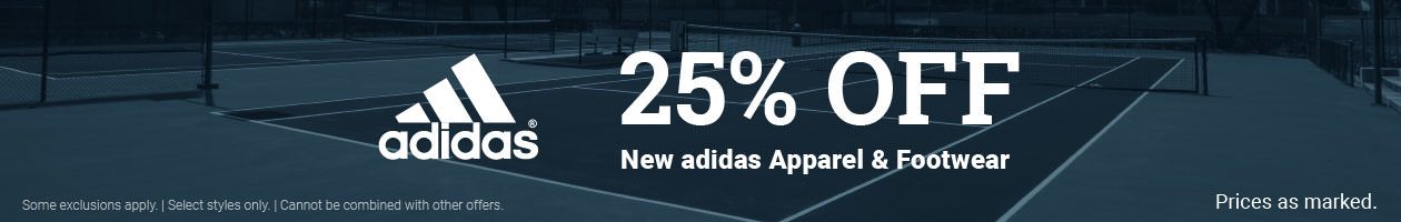 Save adidas Tennis Apparel and Shoes