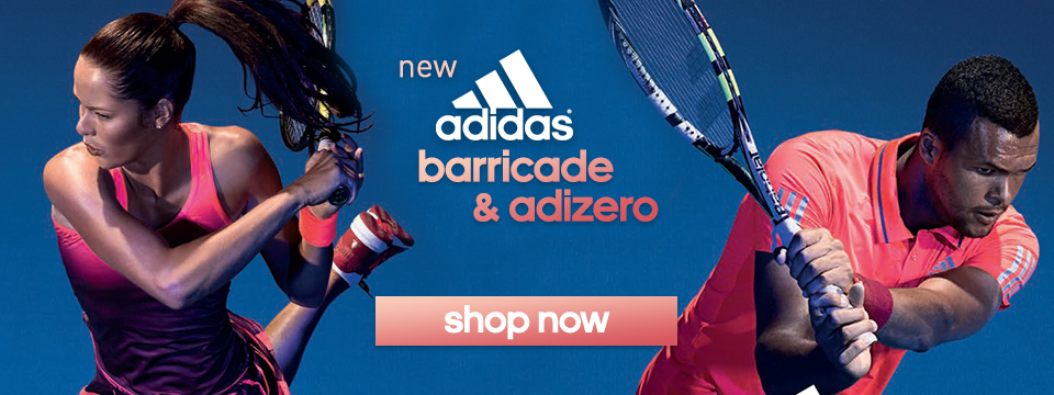 new adidas mens and womens adizero and mens barricade tennis apparel