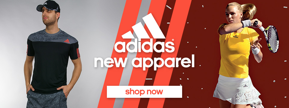 adidas Spring tennis apparel and shoes