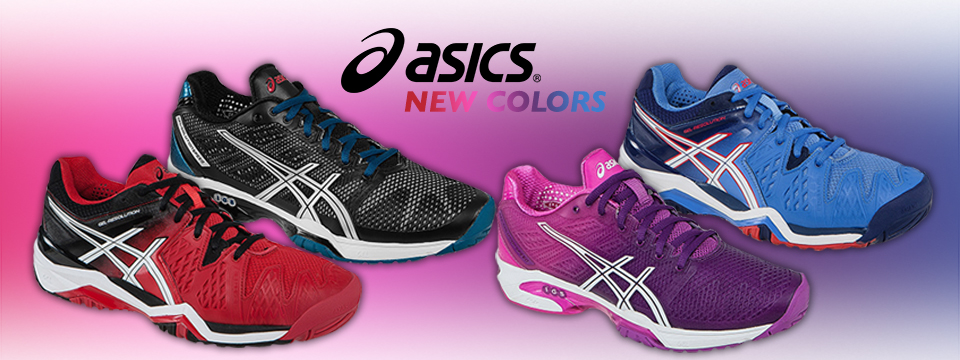 New and Sale Asics Footwear including Solution Speed and Gel Resolution