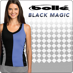Shop Bolle women's tennis apparel for Spring 2015
