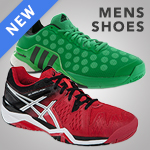 Offering a large selection of new men's tennis shoes for Spring 2015
