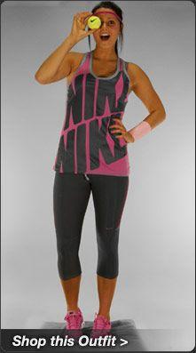 Nike Blast DB Racerback Tank Tennis Outfit