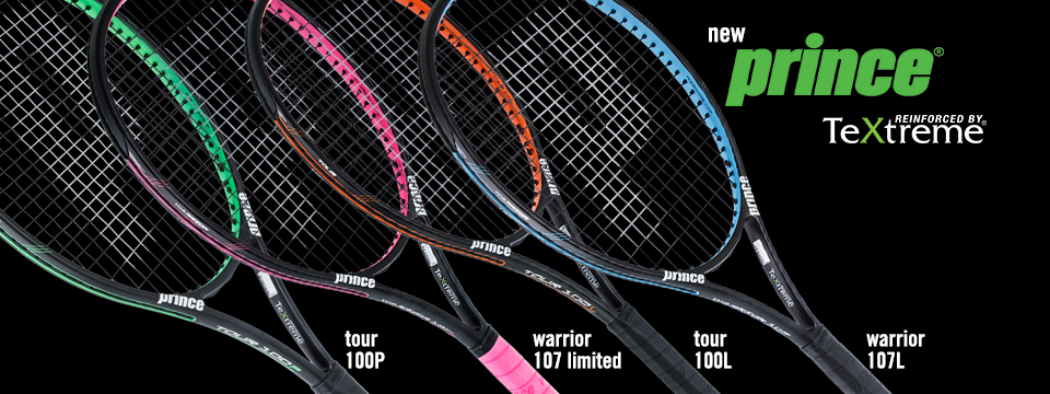 New Prince Textreme Tennis Racquets