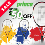 $50 Off Prince Racquets