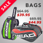Great selection of tennis bags, on sale
