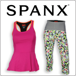 Shop Spanx women's tennis apparel for Spring 2015
