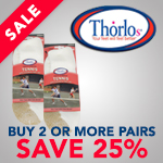Buy 2 or more pairs of Thorlo Socks and save 25% Off