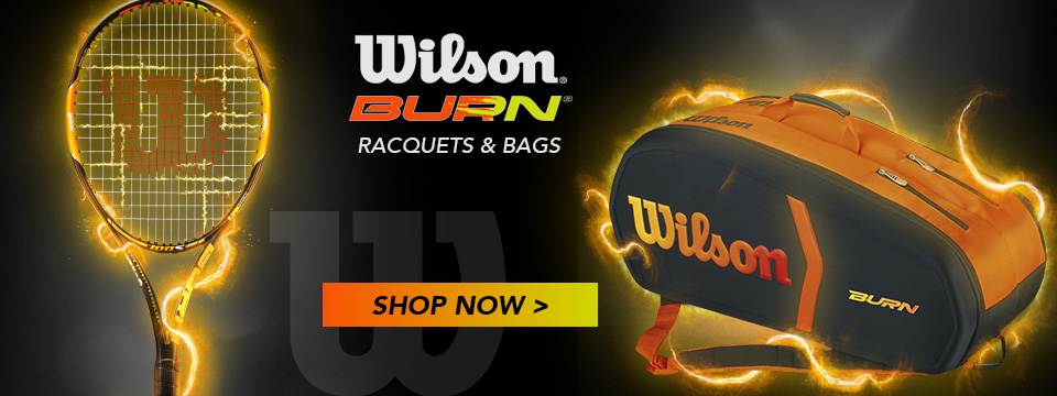 Wilson Burn Racquets and Bags