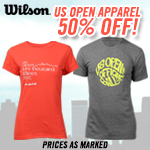 Wilson US Open Apparel 50% Off