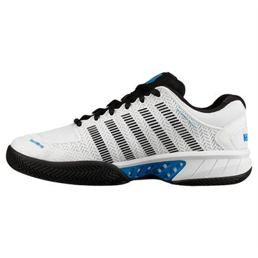 K Swiss Hypercourt Express Mens Tennis Shoe - White/Black/Brilliant Blue