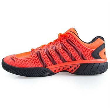 K Swiss Hypercourt Express Mens Tennis Shoe - Neon Blaze/White/Black