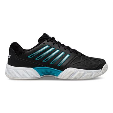 K Swiss Bigshot Light 3 Mens Tennis Shoe Black/White/Algiers Blue 05366 029