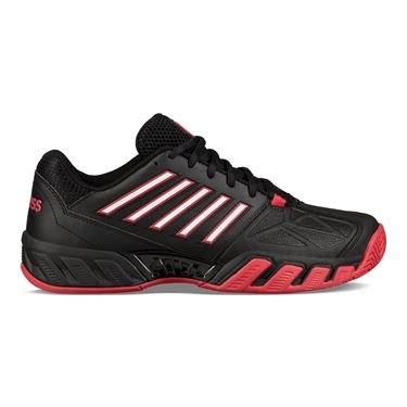 K Swiss Bigshot Light 3 Mens Tennis Shoe - Black/Lollipop Red/White