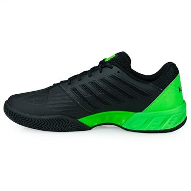 K Swiss Big Shot Light 3 Mens Tennis Shoe - Black/Neon Lime