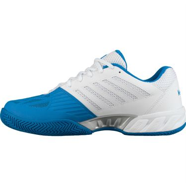 K Swiss Bigshot Light 3 Mens Tennis Shoe - White/Brilliant Blue/Black