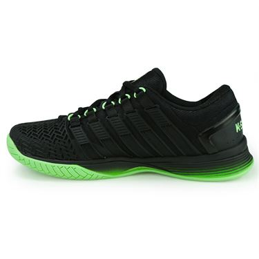 K-Swiss Hypercourt 2.0 Mens Tennis Shoe - Black/Paradise Green/Jasmine Green