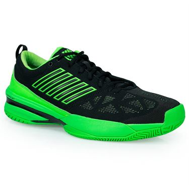 K Swiss Knitshot Mens Tennis Shoe - Neon Lime/Black