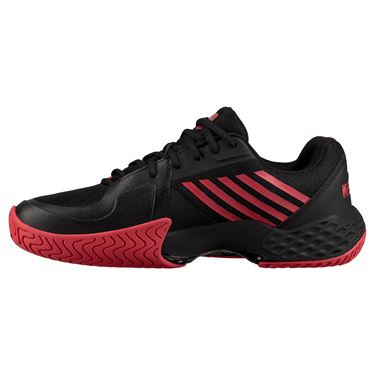K Swiss Aero Court Mens Tennis Shoe - Black/Lollipop Red/White