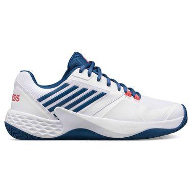 K Swiss Aero Court Mens Tennis Shoe White/Dark Blue/Bittersweet 06134 137