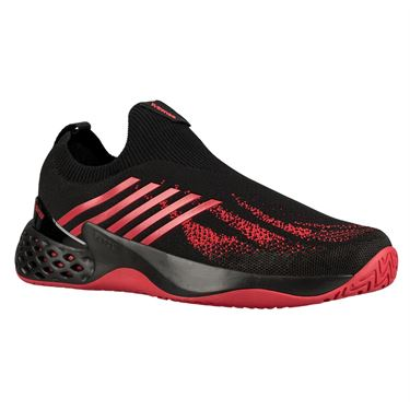 K Swiss Aero Knit Mens Tennis Shoe - Black/Lollipop Red